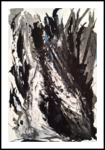 Black and Blue, Paintings, Abstract, Decorative, Acrylic, By Judith A Cahill