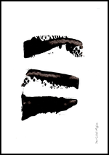 Black Brush Stroke, Paintings, Abstract,Minimalism, Avant-Garde, Acrylic, By Sévi Cabell Maghee