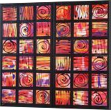 black mosaic red A123 Abstract Painting vertical wall art Acrylic Original Contemporary Art for Lounge, Office or above sofa by artist Ksavera, Decorative Arts,Multipanel Art,Paintings, Abstract,Commercial Design,Expressionism, Composition,Decorative, Acrylic,Canvas, By Ksavera Art