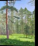 Black Pine, Paintings, Fine Art,Photorealism,Realism, Landscape,Nature, Oil,Wood, By Dejan Trajkovic