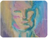 Blending In, Paintings, Abstract, Figurative, Painting, By Melissa R Hill