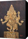 Blessing Ganesha, Paintings, Expressionism, Spiritual, Canvas, By Ajay Harit