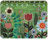 Blooms 1, Folk Art, Primitive, Floral, Acrylic, By KARLA A GERARD