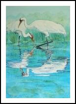 Blue Bayou, Paintings, Fine Art, Environmental art,Wildlife, Watercolor, By Vicky Lilla