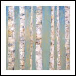 Blue Birches, Paintings, Abstract, Nature, Acrylic, By Judith Cahill