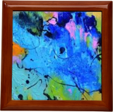 Blue eye, Paintings, Abstract, Decorative, Canvas, By Pol Henry Ledent