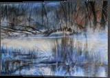 Blue harmony, Paintings, Fine Art, Landscape,Nature, Acrylic,Canvas, By Marta Kuźniar