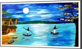 Blue Lagoon, Paintings, Fine Art, Seascape, Acrylic, By Smita Biswas