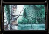 Blue Lake, Paintings, Pop Art, Landscape, Painting, By james Allen lagasse