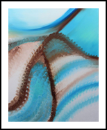 Blue sand, Paintings, Abstract,Fine Art,Minimalism,Modernism, Decorative,Inspirational, Oil, By Monika Toth