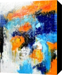 Blue Temptation, Paintings, Abstract, Conceptual, Oil, By Sal Panasci