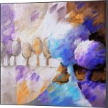 Blue trees 028, Paintings, Abstract, Landscape, Canvas, By Beatrice BEDEUR