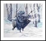 Blue Wizard, Illustration,Paintings, Fine Art,Realism, Animals,Fantasy,Mythical,Nature, Acrylic, By Rebecca Suzanne Magar