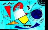 Blues, Paintings, Abstract, Avant-Garde, Acrylic, By Sévi Cabell Maghee