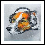 Blues for dog, Paintings, Fine Art, Animals, Canvas,Oil, By Lyubov Kuptsova