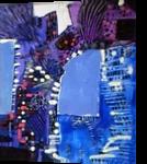 BLYE, Paintings, Abstract, Decorative, Acrylic,Canvas, By Maria Hristova Koleva