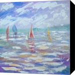 Boating, Paintings, Fine Art, Seascape, Painting,Watercolor, By Matthew David Evans