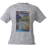 Boating on the Arno, Paintings, Impressionism, Landscape,People,Seascape, Canvas,Oil, By Mason Mansung Kang