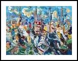 boats, Paintings, Expressionism, Nature, Oil, By antonino puliafico