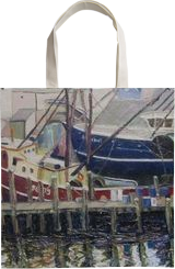 Boats At Rest, Paintings, Impressionism,Realism, Seascape, Oil, By Richard John Nowak
