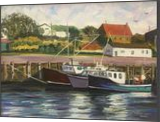 Boats At Rest, Nova Scotia, Paintings, Impressionism,Realism, Seascape, Oil,Painting, By Richard John Nowak
