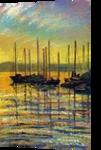 Boats at Rest, Paintings,Pastel, Fine Art,Impressionism, Landscape,Seascape, Painting,Pastel,Watercolor, By Matthew David Evans