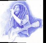 Bob Marley, Drawings / Sketch, Fine Art, Documentary,Music,People, Painting, By Oleg Kozelskiy