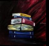 Books Of Knowledge, Paintings, Fine Art, Conceptual, Acrylic, By adam santana