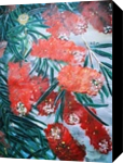 BOTTLE BRUSH FLOWER, Paintings, Modernism, Botanical, Nature, Acrylic, By HSIN LIN