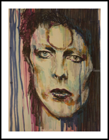 Bowie, Drawings / Sketch, Fine Art, Portrait, Ink, By Alexis Calabrese