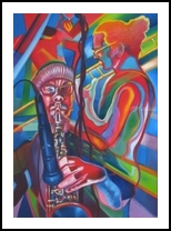 Brass Section, Paintings, Expressionism,Fine Art,Symbolism, Figurative,Music,People, Oil, By Gavin Mayhew