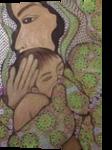 Breastfeeding Madonna, Paintings, Impressionism, People, Canvas, By Rita B Bustamante