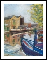 Brighouse Marina, Pastel, Realism, Landscape, Painting,Pastel, By Matthew David Evans