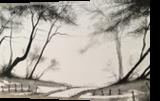 Broken Fence Pass Part 2, Paintings, Impressionism, Landscape, Watercolor, By Stephen Keller