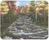 Brothers Brook, Paintings, Abstract,Impressionism, Landscape, Acrylic,Canvas, By Kelsey Elizabeth VandenHoek