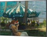 Bryant Park, Paintings, Impressionism, Cityscape, Oil, By Michael J Connors