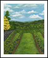 Between the Vines, Paintings, Fine Art, Landscape,Nature, Acrylic,Canvas, By Kelsey Elizabeth VandenHoek
