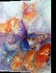 Butterflies, Paintings, Realism, Animals,Decorative, Watercolor, By Maria Hristova Koleva