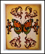 Butterfly #1, Collage, Abstract, Decorative, Mixed, By Lucyanne Driusi Terni