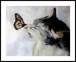 Butterfly Kiss, Paintings, Realism, Animals, Painting, By William Clark