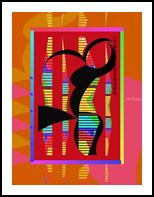 BWV 582 - Passacaglia, Collage, Abstract, Music, Mixed, By Richard Nodine