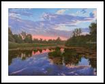 Calmness, Paintings, Fine Art,Photorealism,Realism, Landscape,Nature, Canvas,Oil, By Dejan Trajkovic