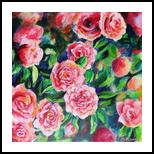Camellia, Paintings, Fine Art, Botanical,Floral,Nature, Acrylic,Canvas, By Marta Kuźniar