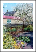 Canalside Walk, Paintings,Pastel, Impressionism,Realism, Floral,Landscape, Painting,Pastel, By Matthew David Evans