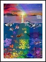 Canticle of the Sea, Digital Art / Computer Art,Drawings / Sketch,Illustration,Poster, Fine Art,Realism, Animals,Environmental art,Fantasy,Landscape,Nature,Seascape,Tropical,Wildlife, Digital,Pencil, By Marty Jones