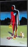 Cardiac Bypass, Paintings, Symbolism, Inspirational, Acrylic, By Curtis Dickman