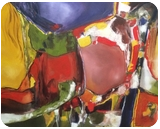 Carousel, Paintings, Abstract, Avant-Garde, Acrylic,Oil, By Joseph Culotta