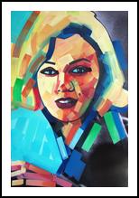 Cash_Mere CanDid, Paintings, Pop Art, Figurative,Portrait, Canvas,Digital,Mixed,Oil, By Piotr Ryszard Kachny