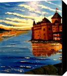 Castle., Paintings, Impressionism, Landscape, Canvas,Oil, By Valeriy Politov