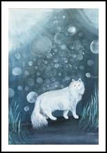 Cat and star, Paintings, Surrealism, Fantasy, Acrylic, By Marta Kuźniar
